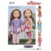"8574 Simplicity Pattern: 18""  Doll Clothes"